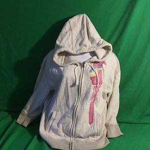 Hollister L cream color laguna Beach zipper hoodie